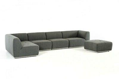 Modern Grey Sectional and 5pc set #V117754