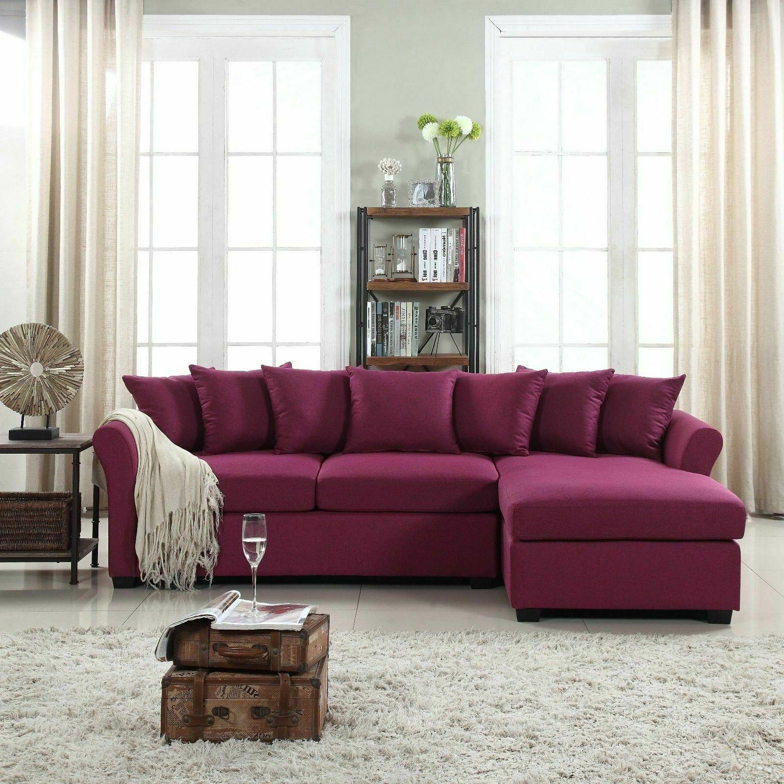 modern large linen sectional sofa with extra