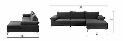 Modern Sectional Wide Grey