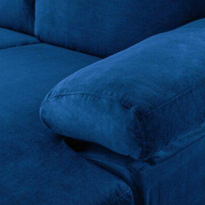 Modern Sofa, L-Shape Couch Extra Wide Navy