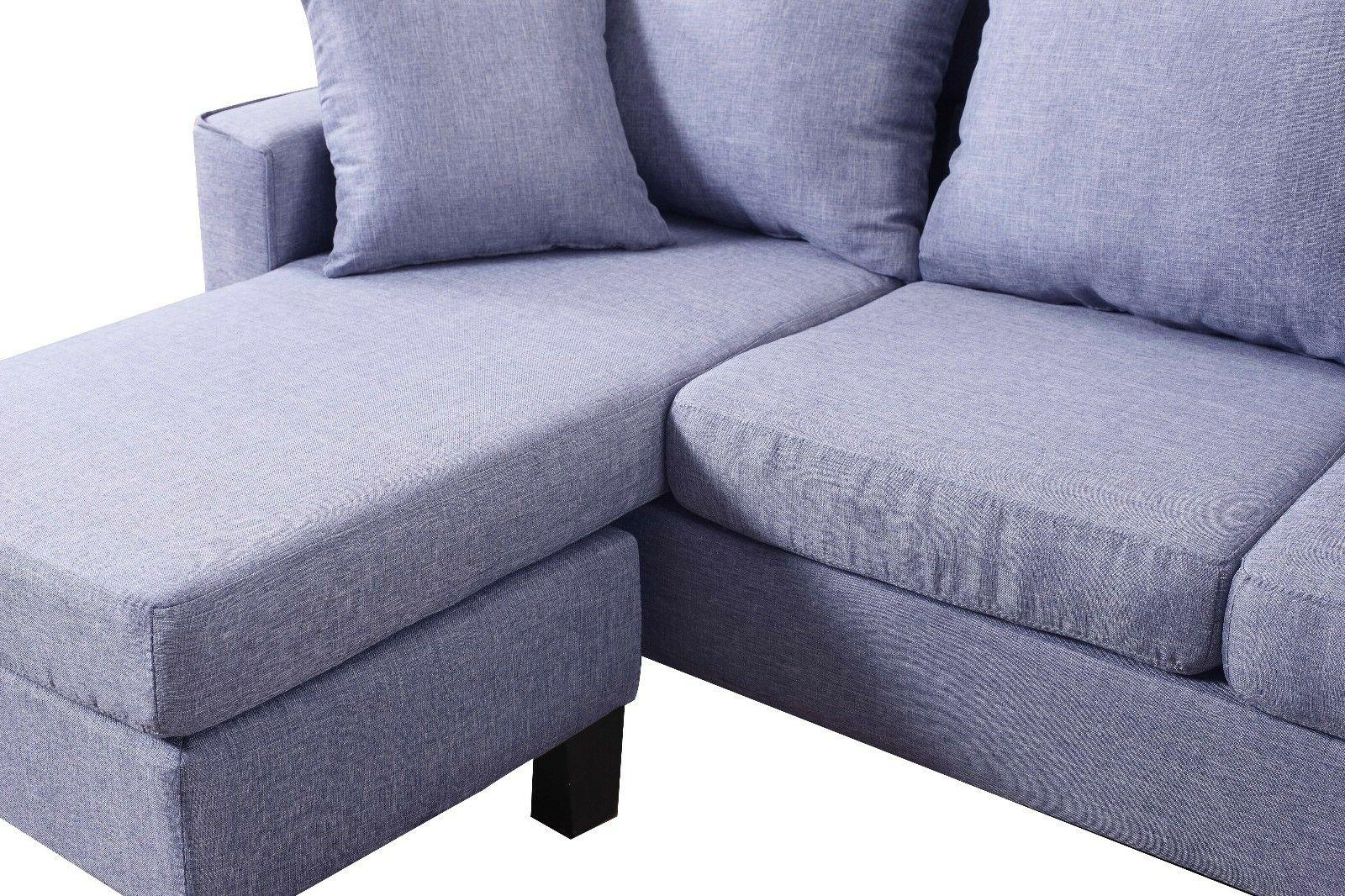 Modern Space Sofa Reversible Chaise Grey