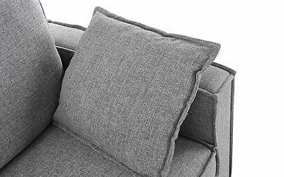 Modern Living Sectional L Couch Pillows, Light Grey