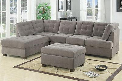 modern poundex f7139 charcoal furniture suede microfiber