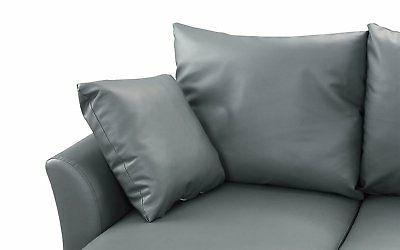 Modern Leather Sofa, Configurable Couch,