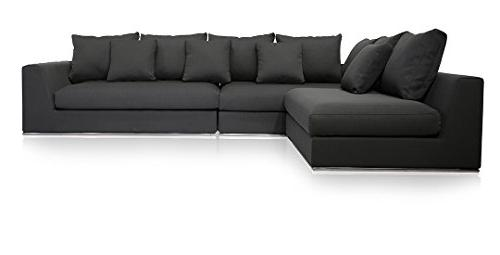 modern reversible sectional sofa gray