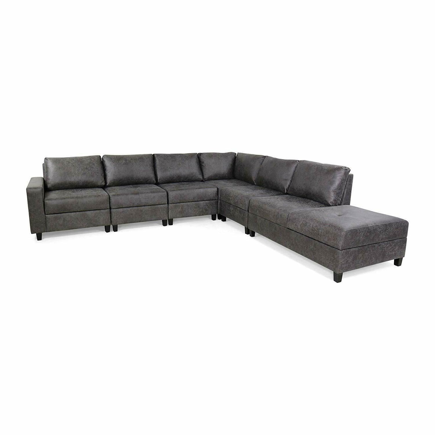 modern sectional sofa chaise lounge 6 seat
