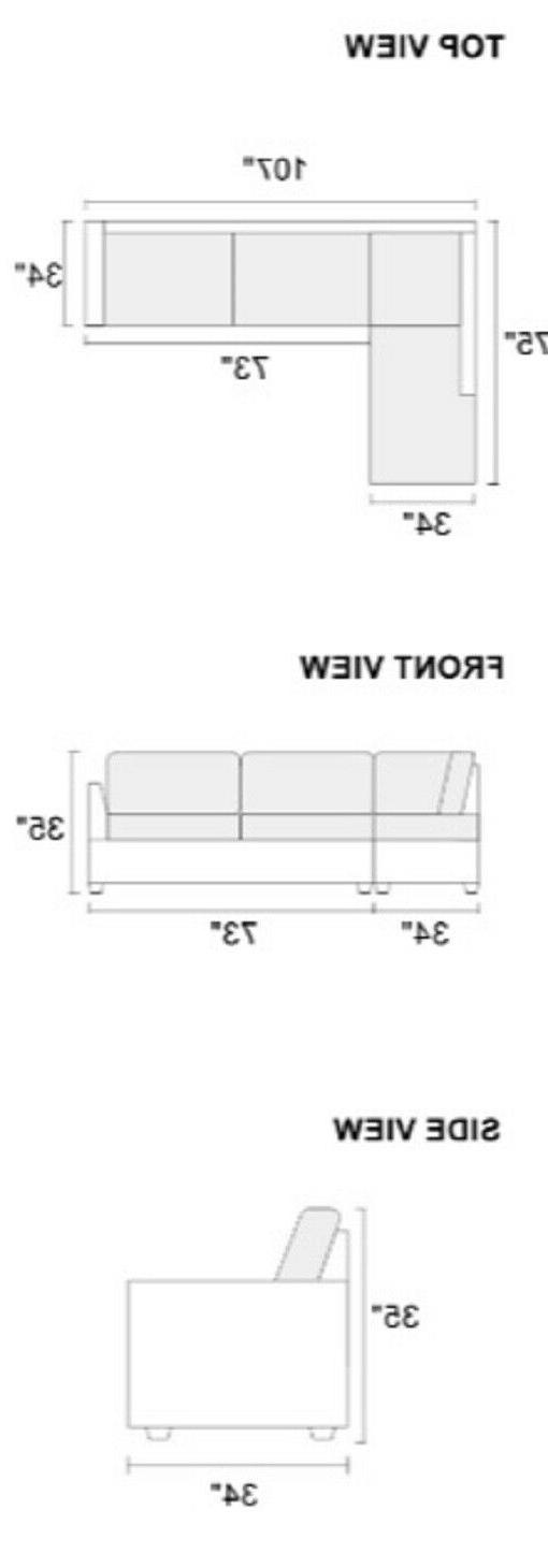 Modern Sectional Sofa L Shaped Couch Tufted Nickel Stud Ottoman Black