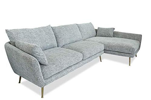 Edloe Finch Modern Sofa Left Chaise Down Grey