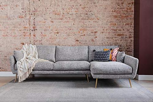 modern sectional sofa left facing