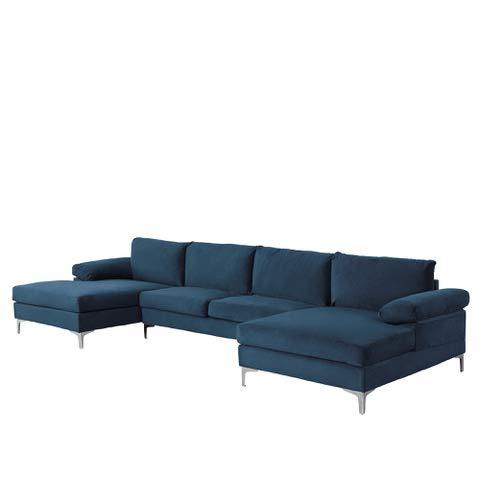 U-Shape Sofa, Extra Wide Chaise Couch