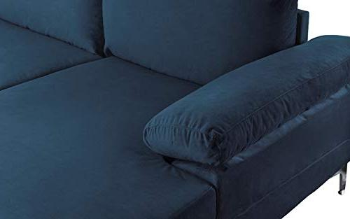 Modern Large Fabric U-Shape Sofa, Extra Chaise Couch