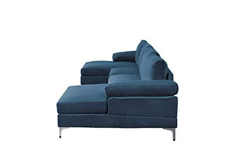 Modern Large U-Shape Sectional Sofa, Extra Couch