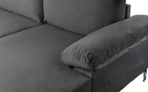 Modern Velvet U-Shape Sectional Extra Wide Couch