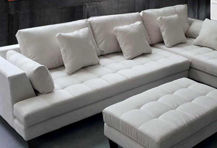 3PC WHITE SECTIONAL SOFA S168LW