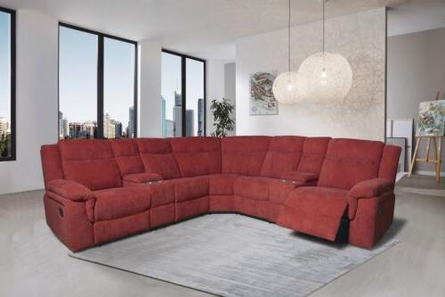 motion sofa sectional grey fabric reclining living