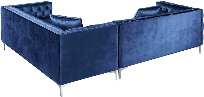 Hand Sectional L Shape Button Tufted