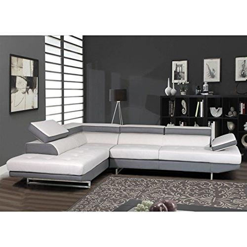 natalie leather sectional gray