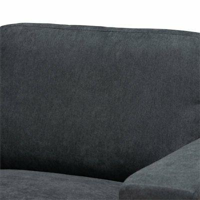 Baxton Nevin Grey Sectional Sofa with Right