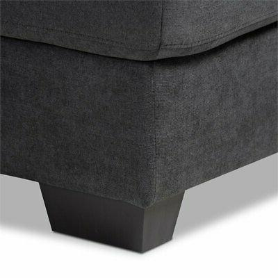Baxton Studio Dark Grey Right Chaise
