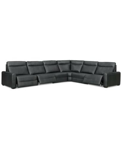 new 6 pc leather sectional sofa