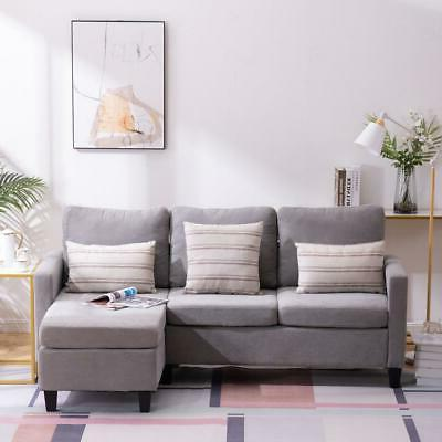 Couch Back Cushion Light Gray