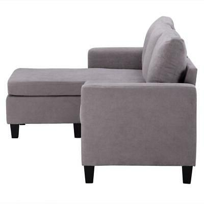 New Couch L-Shaped Couch w/ Back Light Gray