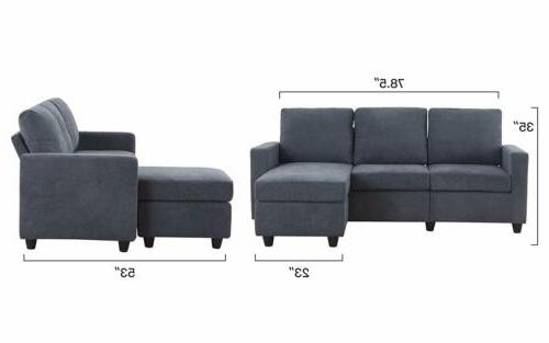 New Gray Sofa Chaise for Space
