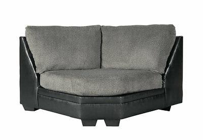 NEW Sectional Room Fabric & Faux Sofa Set