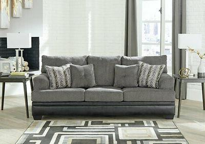 NEW Living Room Fabric Faux Sofa Couch Set IG2S