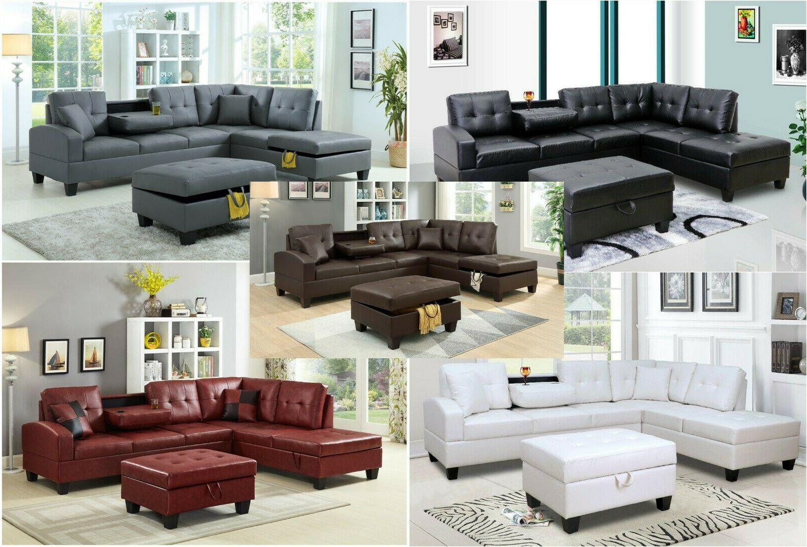 new pu leather living room sectional sofa