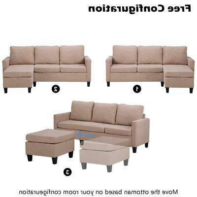 New Couch for Small Beige
