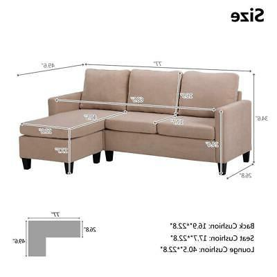 New Couch Chaise for Small Beige
