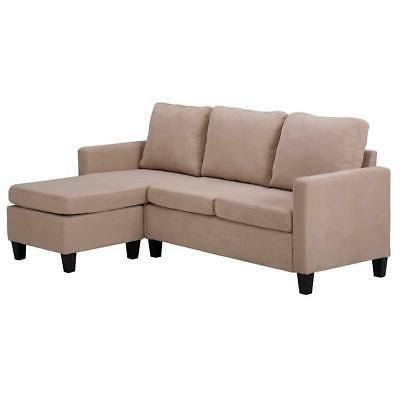 New Sectional Couch W/Reversible Small Space US
