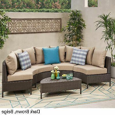 Newton Outdoor Seater Curved Wicker Set