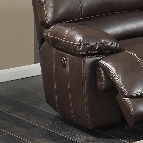 AC Pacific Olivia 6-Piece with Power and Charging Table, Brown