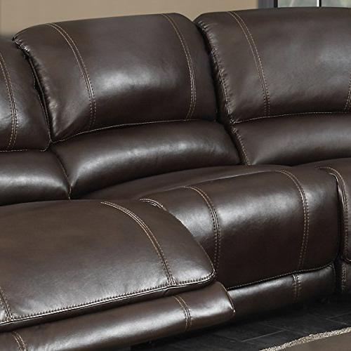 AC Pacific 6-Piece Sectional with 2 Power 1 Armless and Table, Holder,