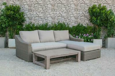 outdoor wicker sectional sofa set 2 pcs