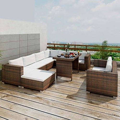 Festnight Dining Outdoor Sectional Sofa with as Gift,