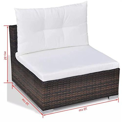 Festnight 28 Patio Dining Set Sectional Sofa with Cushions as a Gift,