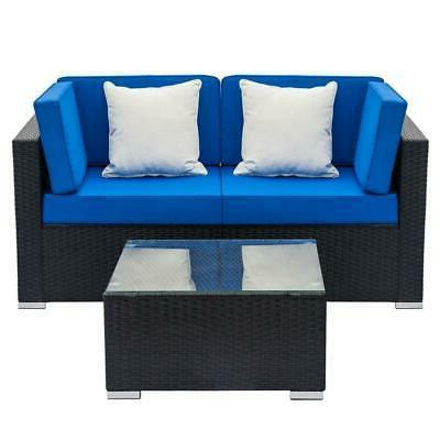 Patio Wicker Sofa Outdoor Sectional Furniture