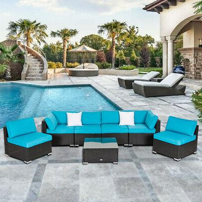 patio sofa table set sectional