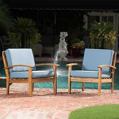 peyton outdoor wooden club chair set of