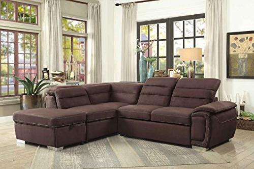 Prime Homelegance Platina 103 Sectional Sofa With Pull Out Camellatalisay Diy Chair Ideas Camellatalisaycom