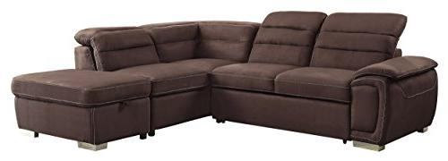 "Homelegance Platina 103"" Sofa with Bed Fabric"