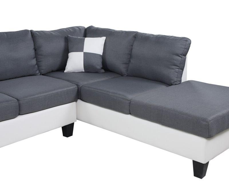 Plushy Sectional Sofa Set 4PC Fabric Upholstery Soft Ottoman