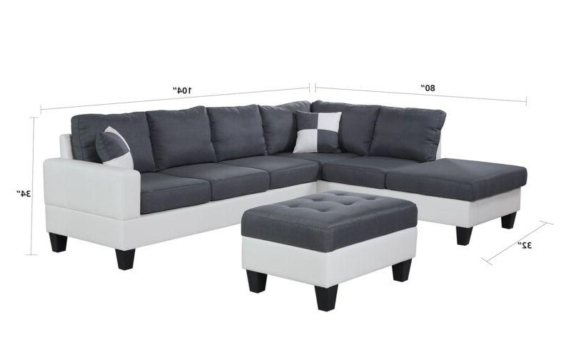 Plushy Sofa Set 4PC Microfiber Upholstery Soft w/ Ottoman