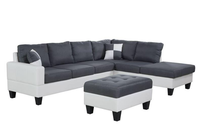 plushy sectional sofa set 4pc microfiber fabric