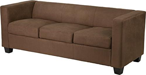 prestige series chocolate microfiber sofa
