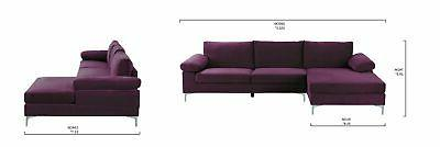Purple Sofa, Extra Wide