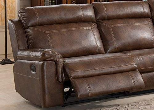 Christies Home CLARK-6PC-SECTIONAL 6-Piece Reclining Sectional Clark, Brown